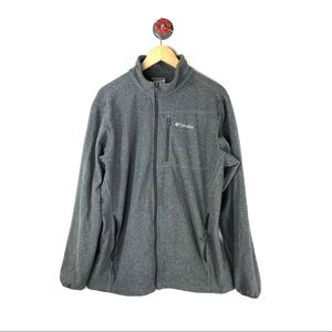 Columbia L jacket fleece full zip gray